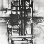 Composition with Easel and Chair IV, 1969, acrylic on canvas, 68x48inches