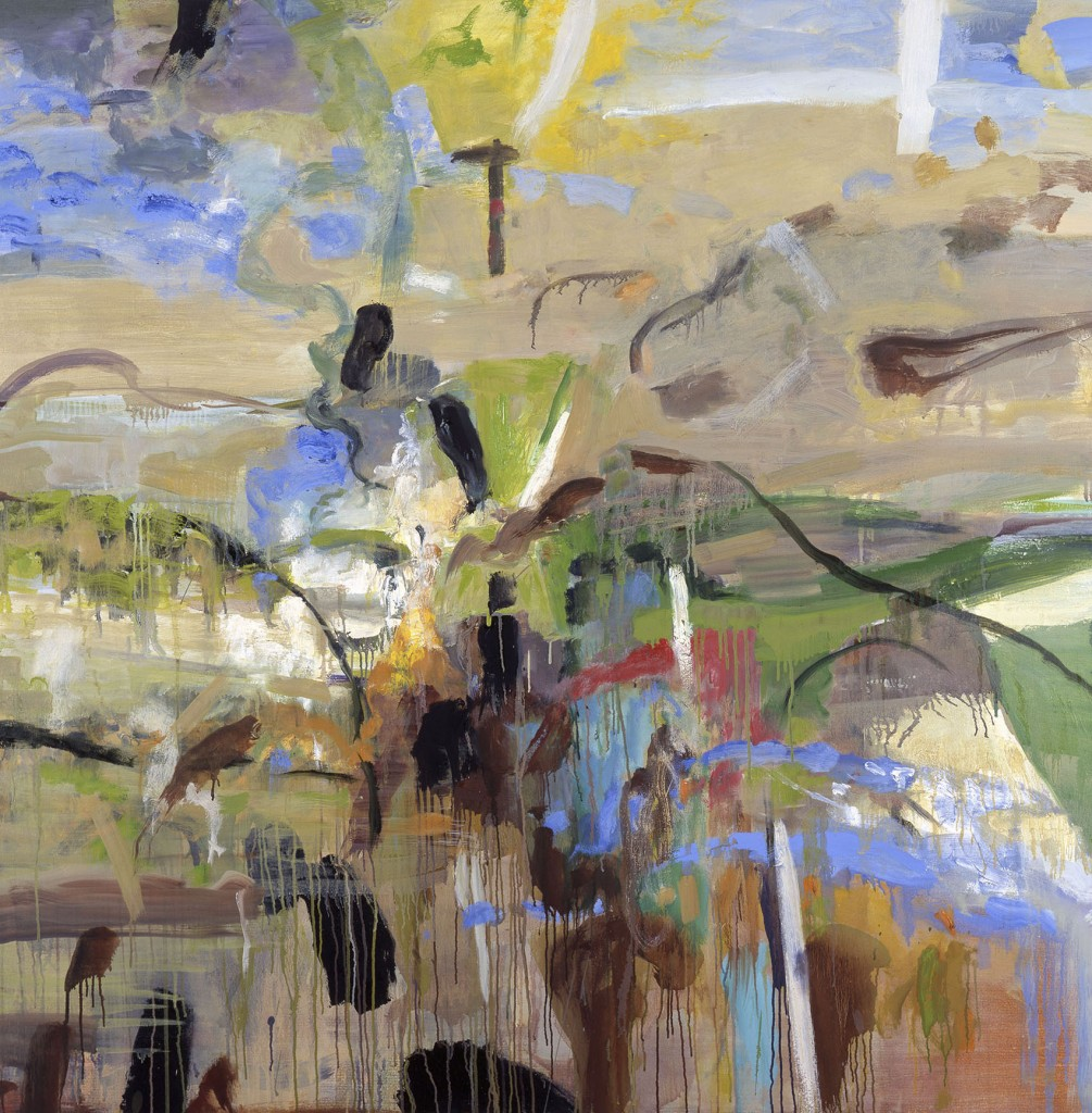 Back Shore Walk; oil on canvas, 2001, 60x60 inches