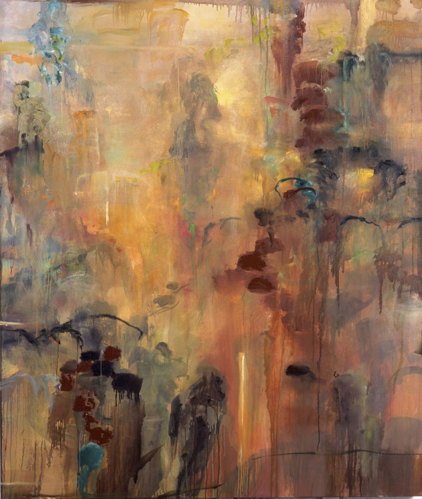 Climbing In Mountains; oil on canvas, 2001, 60x70 inches