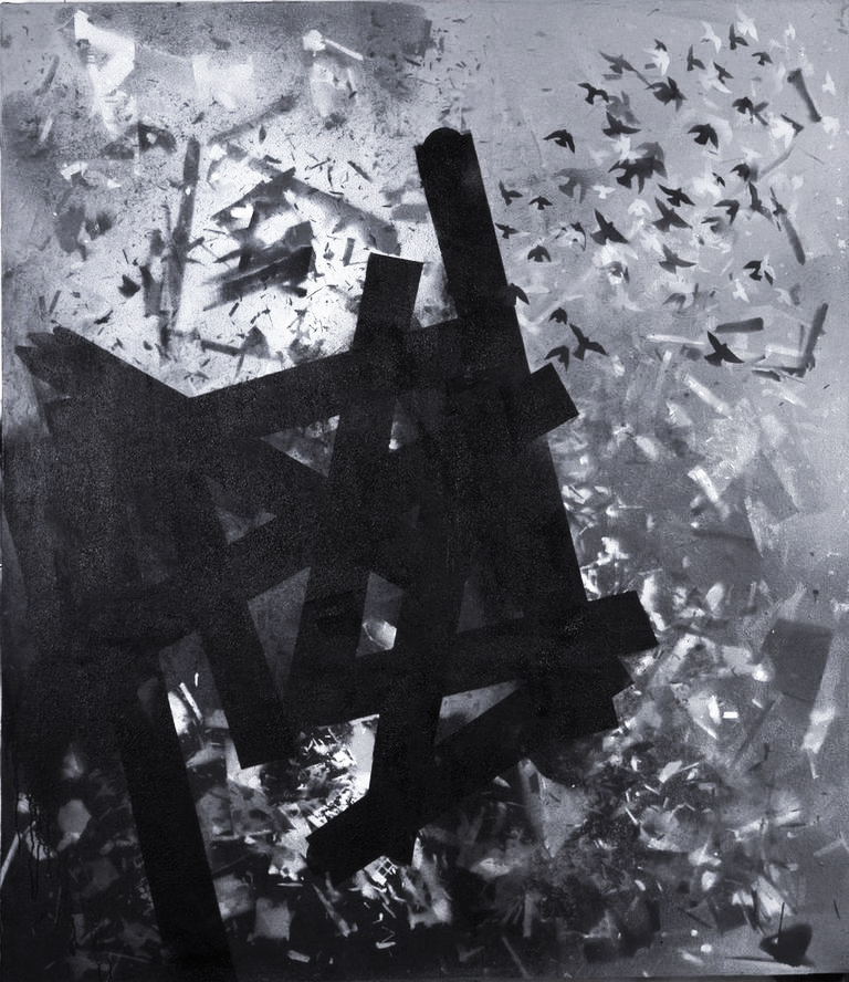 Explosion, 2007, acrylic on canvas, 80x70 inches
