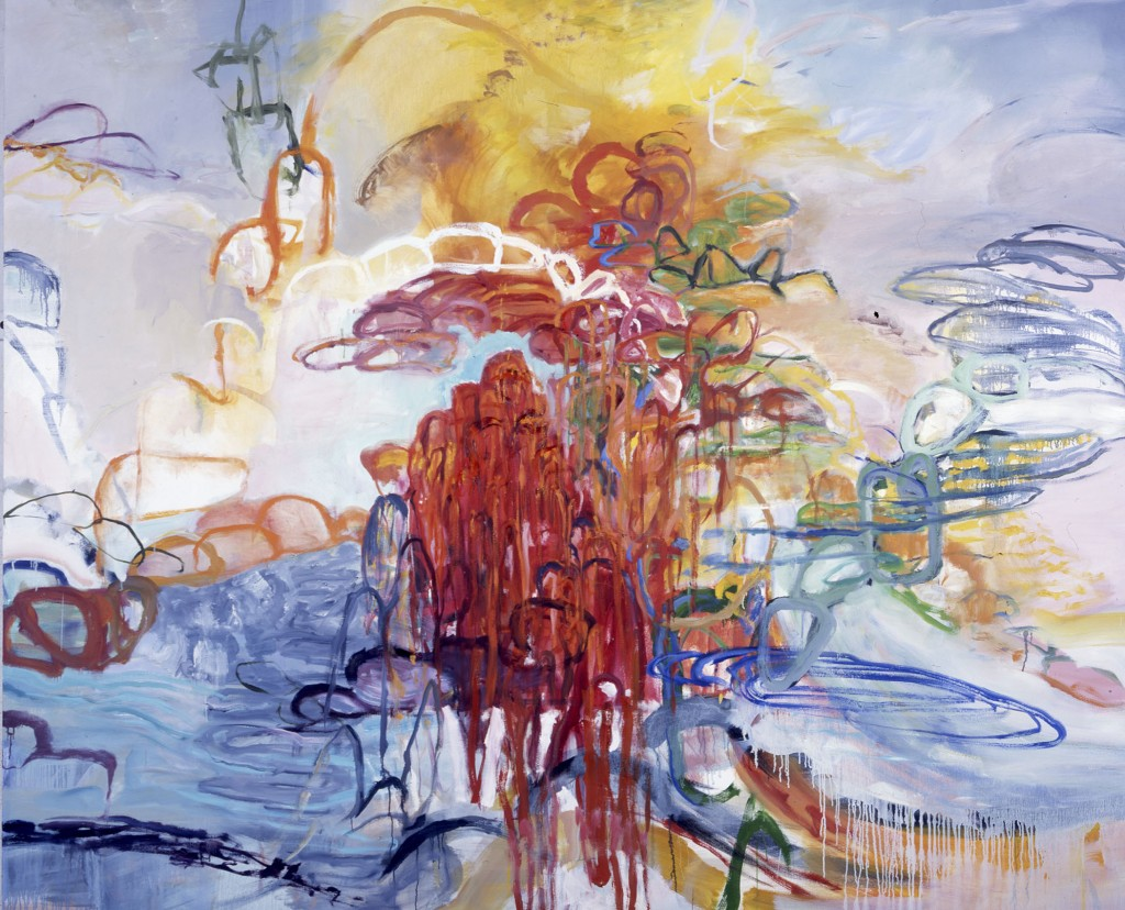 Of Shore and Air; 2003, oil on canvas, 82x92 inches