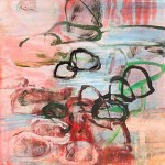 Rocks and Water 2, 2003, monotype, image and paper size 16 1/2 x 16 1/2 inches