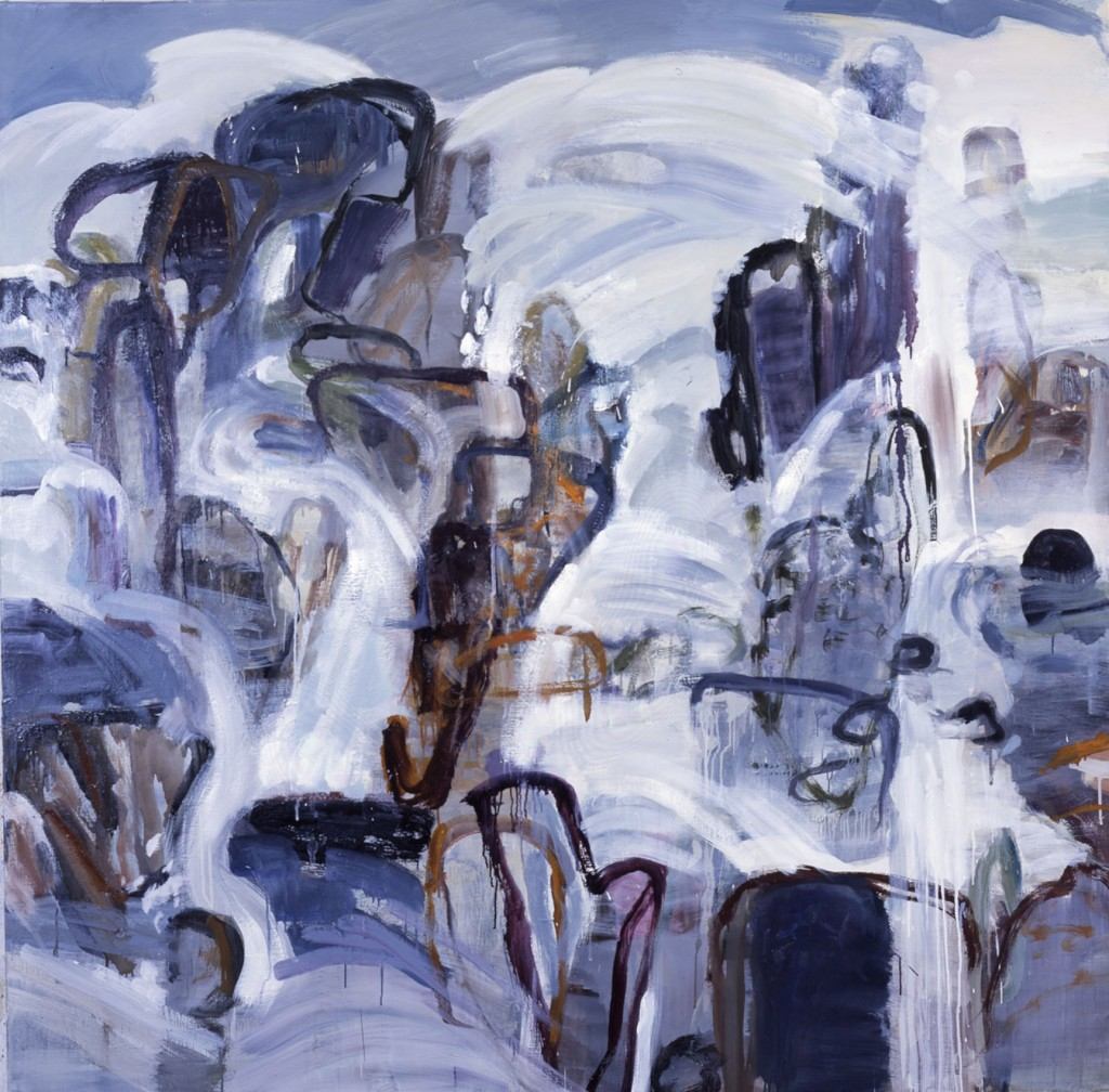 Rocks and Water 1; oil on canvas, 2002, 72x72 inches