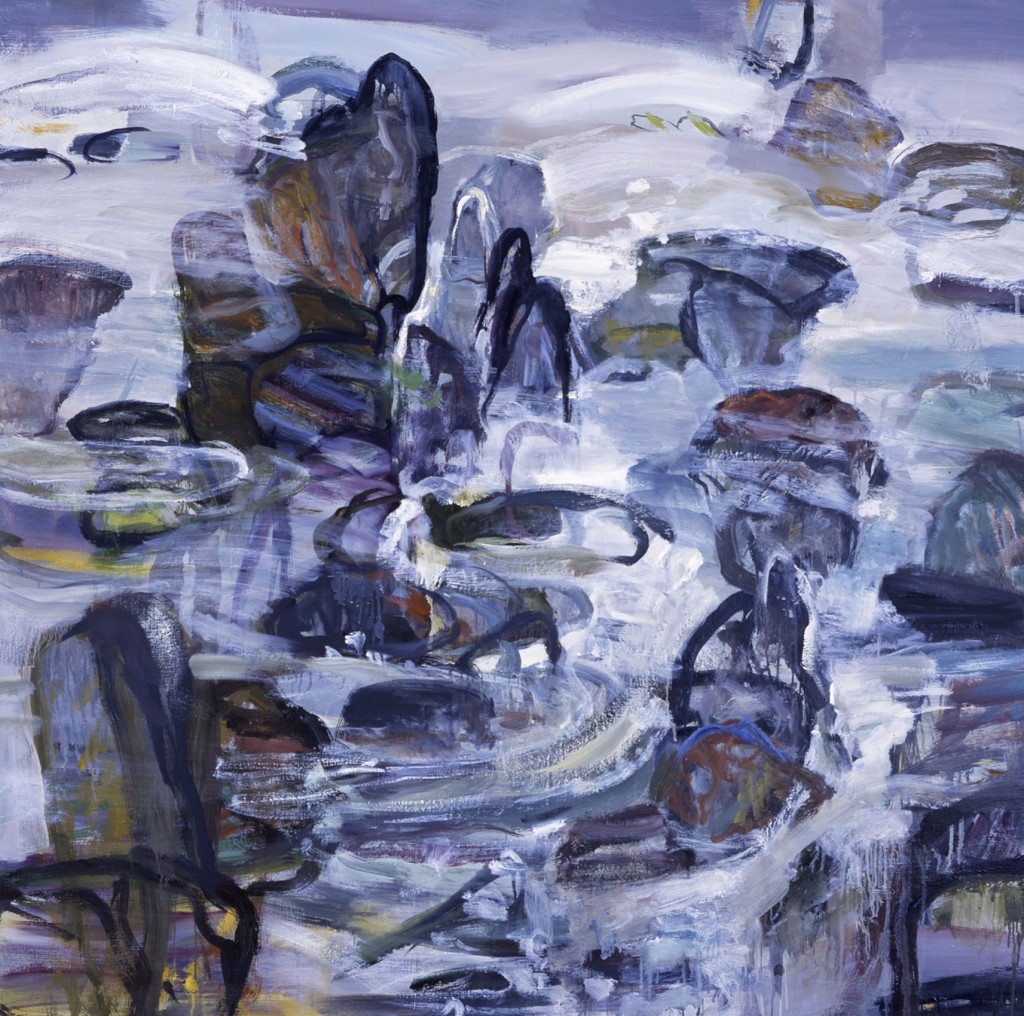 Rocks and Water 2; oil on canvas, 2002, 60x60