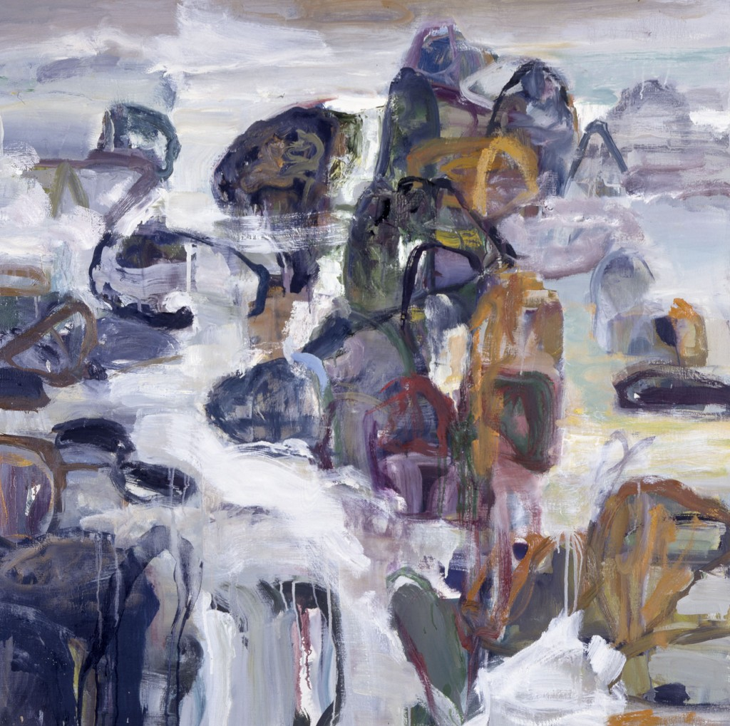 Rocks and Water #3, 2003; oil on canvas, 42 x 42 inches;