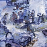 Rocks and Water 5; oil on canvas, 2002, 72 x 96, diptych