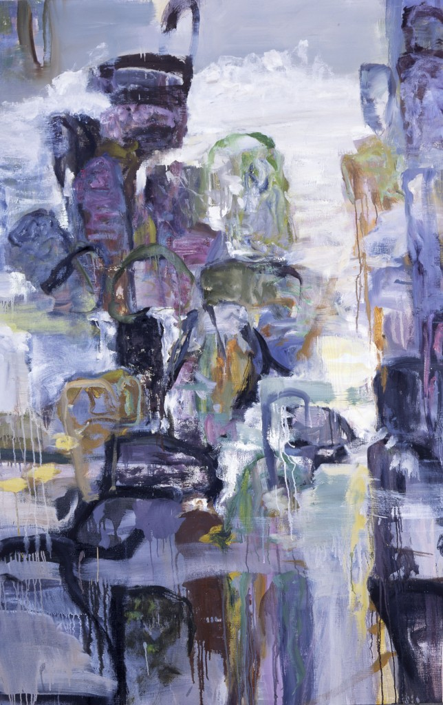Rocks and Water 7, oil on canvas, 2002, 72x48inches