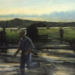 Running Man, 1979, pastel on paper, 77x40.5 inches