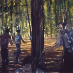 Study for The Incident at Fresh Pond, 1979, oil on canvas, size unknown, diptych