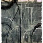Untitled, monotype with chine colle, 20 x 17 inches image, 31 1/2 x 23 inches paper