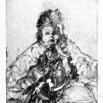 Victorian Baby, 1959, etching printed in itaglio and relief, edition of 25, image size 8 7/8 x 6 inches